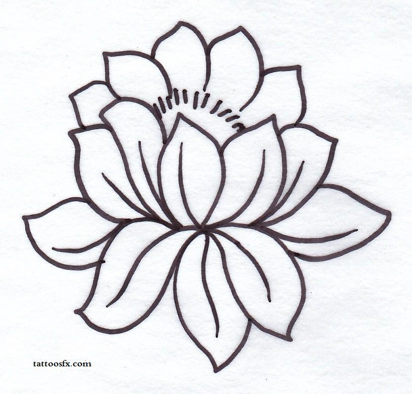 834x799 Simple Flower Tattoo Stencils Ideas And Designs