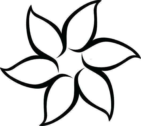 600x536 outline flower outline flower tattoo design beautiful flower
