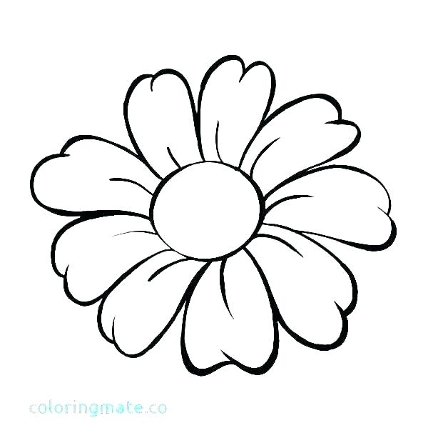 600x627 Pretty Drawings Of Flowers Simple Flower Tattoo Designs Easy