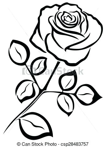 337x470 simple rose outline rose outline drawing drawing of a rose rose