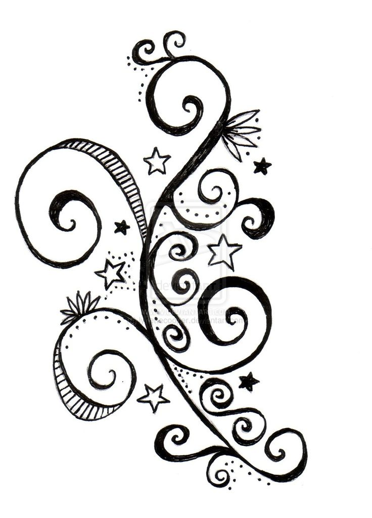 736x1025 Star And Flower Tattoo Designs Gallery Images