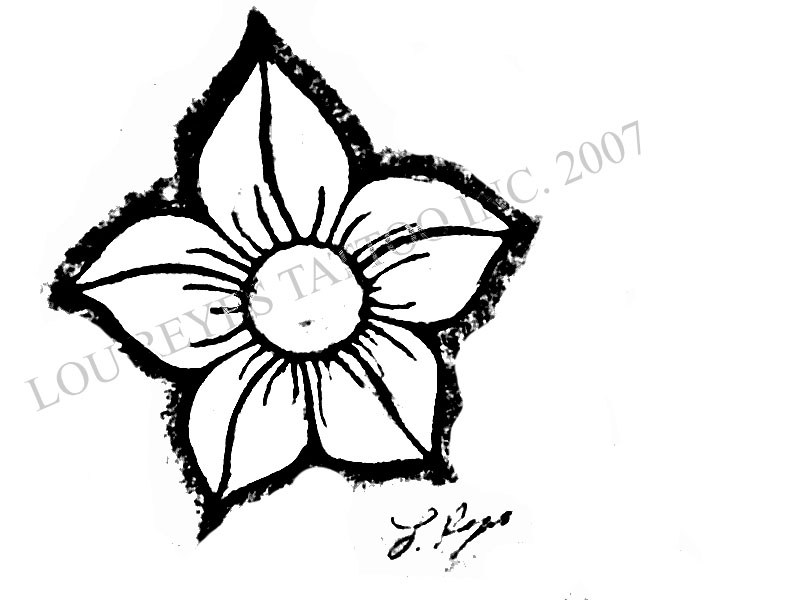 800x600 Small Flower Tattoos Drawings Ideas And Designs