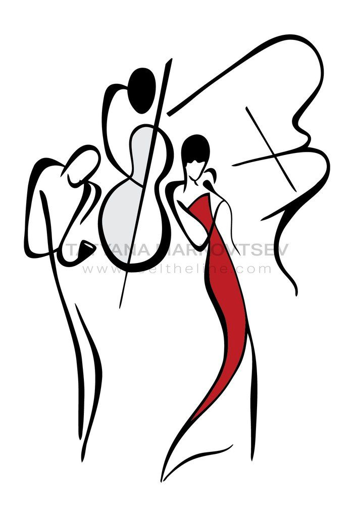 701x1024 Jazz Band Ii Art Drawings Art, Illustration Art, Artwork