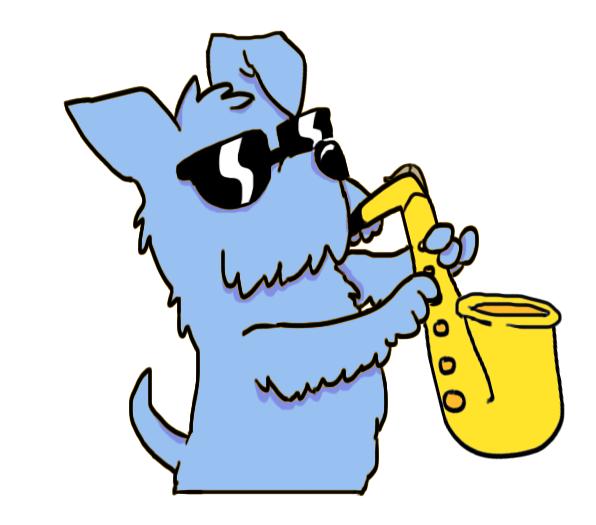 596x525 Blue Dog Logo Drawing