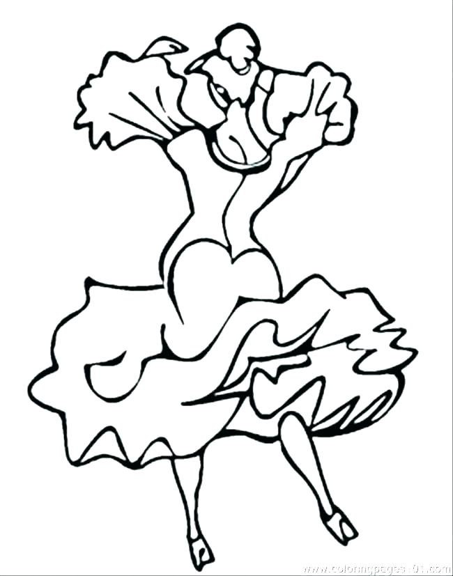 650x827 Dancers Coloring Pages Dance To Print Ballet Drawing At Dancing