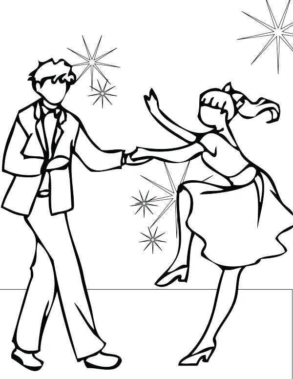 600x776 Dancing Coloring Pages Dance Coloring Sheets Dance Coloring Sheets