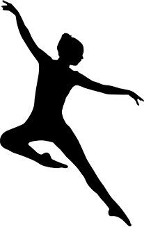 207x327 Jazz Dancer Silhouette Art In Motion