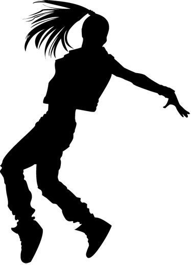 374x518 Stickers Hip Hop Dance, Dancer Silhouette