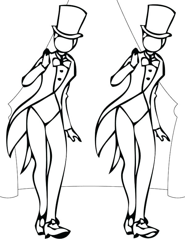 600x776 Dancing Coloring Pages