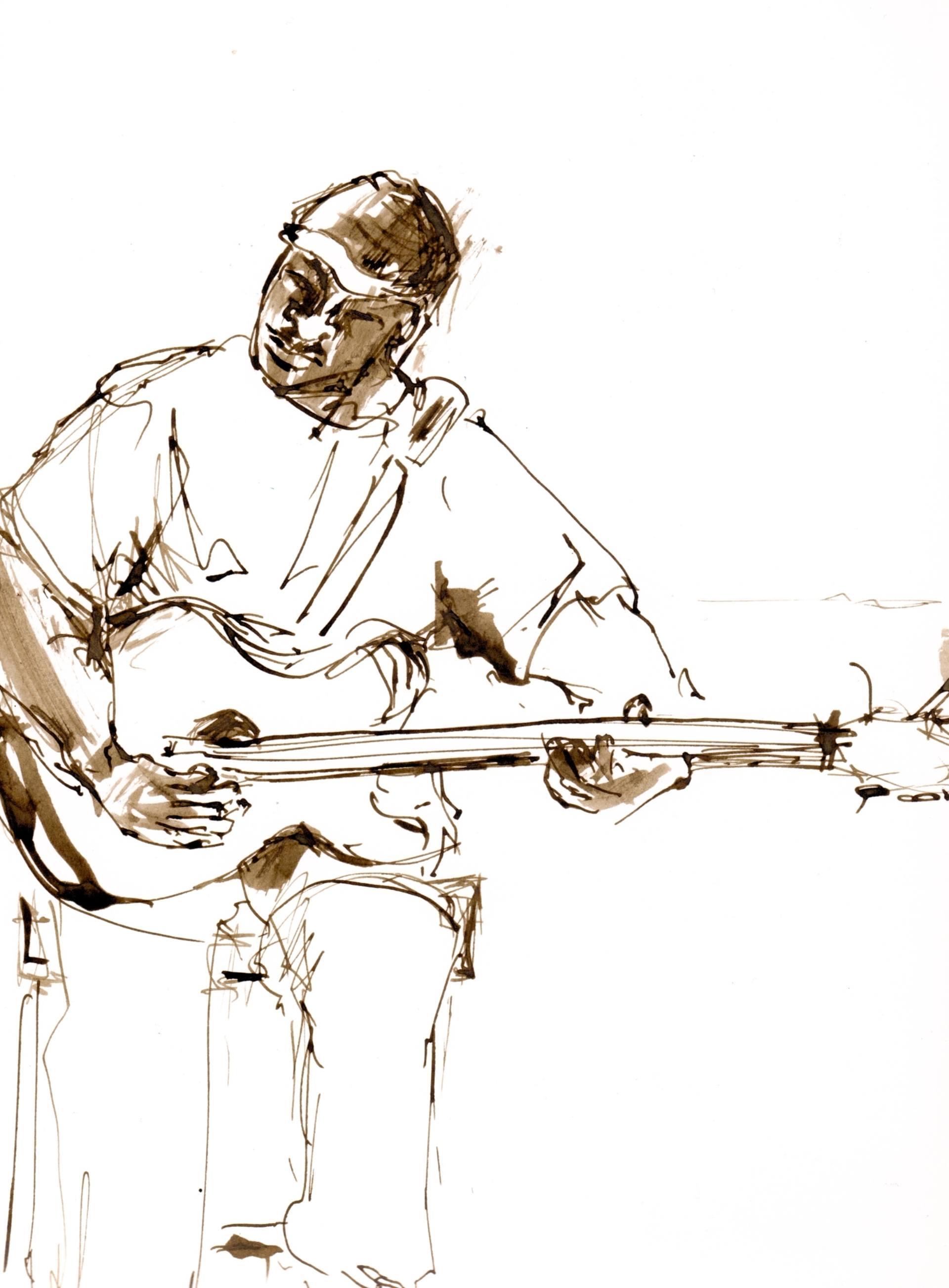 1920x2604 Jazz Musicians Drawing