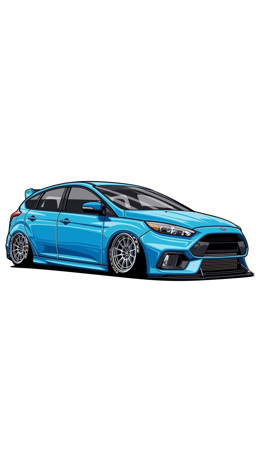 1080x1920 ford focus rs car art art cars, jdm cars, ford focus