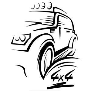 300x300 Cool Car Sticker Off Road For Jeep Niva Auto Sticker Removable