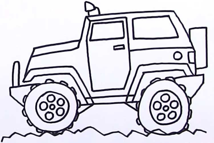 750x500 How To Draw A Jeep Step