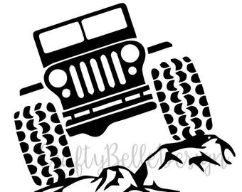340x270 Jeep On Rocks Decal Etsy