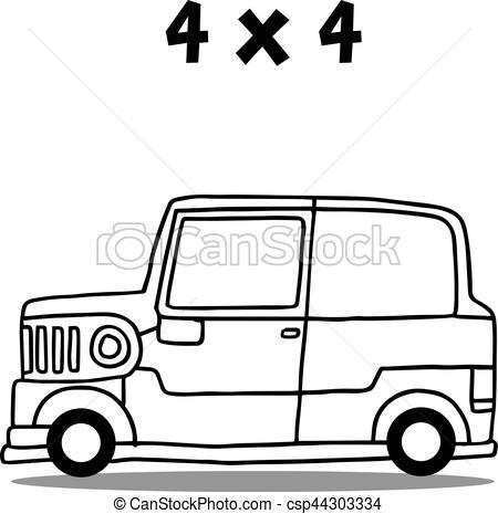 450x465 Jeep Transport Collection Vector Art Hand Draw