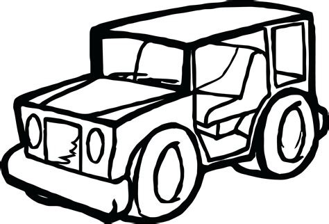 Jeep Line Drawing Free Download Best Jeep Line Drawing On