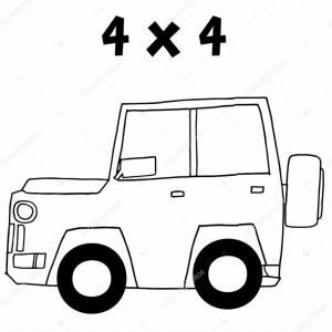 300x300 Stock Illustration Jeep Of Vector Art Illustration Soidergi