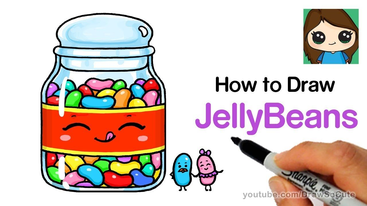 1280x720 How To Draw Jelly Beans Easy And Cute Let's Draw In Cute