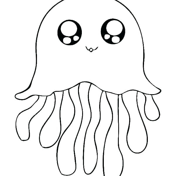 600x600 Jellyfish Coloring