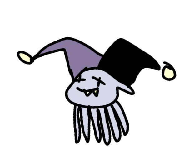 605x510 One Jevil Drawing Everyday On Twitter Jevil Jelly Fish