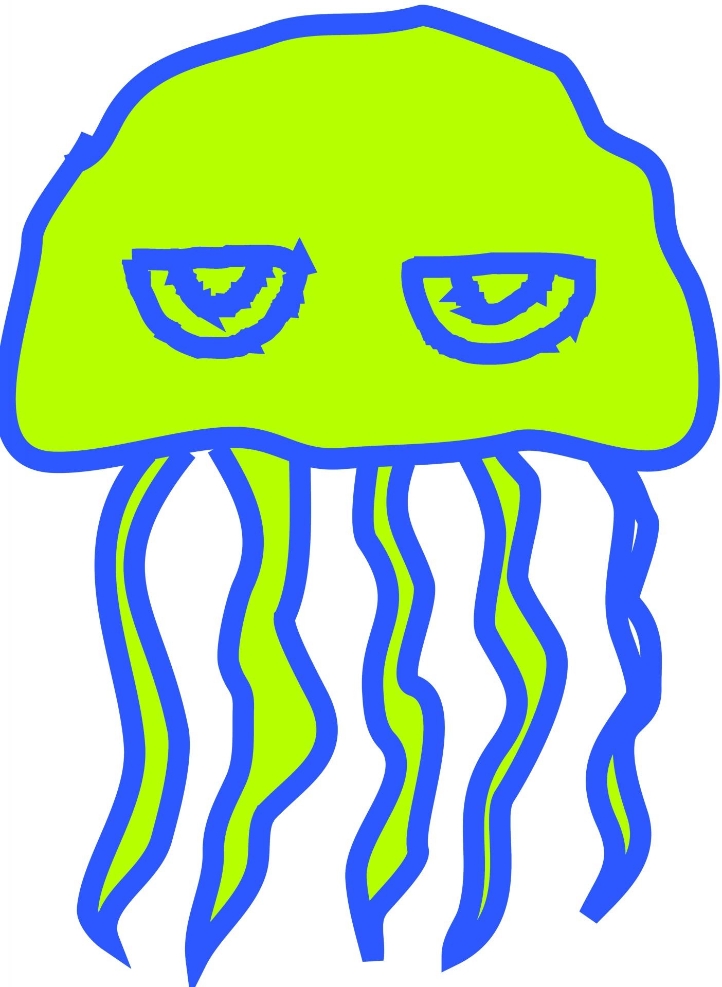 1404x1920 Cartoon, Jelly, Fish, Isolated, White
