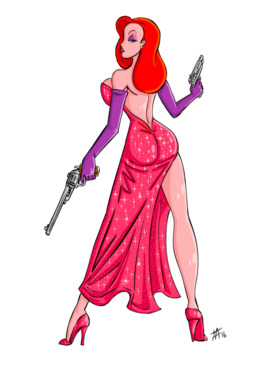 260x380 download framed roger rabbit clipart jessica rabbit roger rabbit