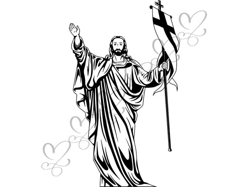 Jesus Christ Drawing Black And White Free Download Best