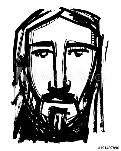 ed009ffc4060 Jesus Christ Face Drawing | Free download best Jesus Christ Face ...
