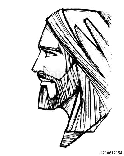 ed009ffc4060 Jesus Christ Face Drawing | Free download best Jesus Christ Face ...