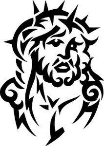 213x300 jesus face outline vinyl wall art vinyl stickers sticker