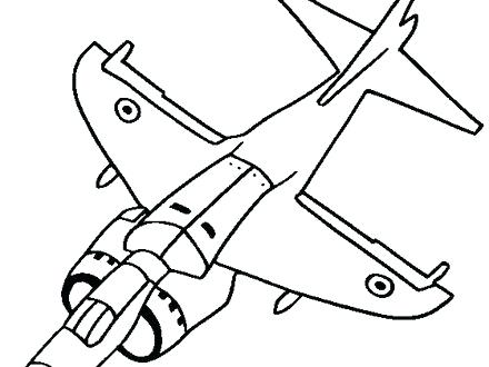 440x330 Fighter Jet Coloring