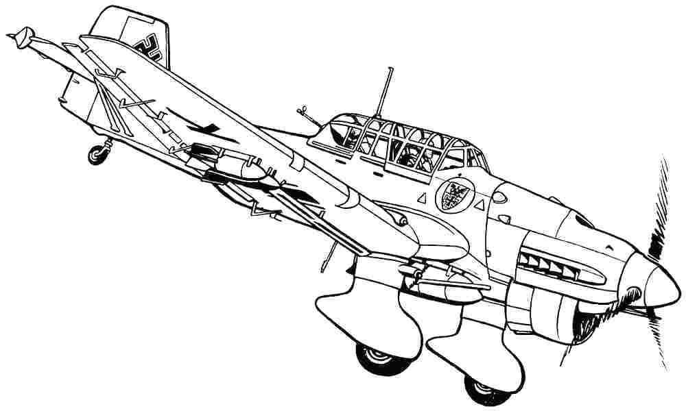 1000x600 Fighter Jet Coloring Pages Elegant Airplane Simple Drawing