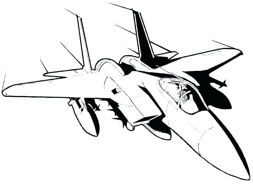 824x600 Military Jet Plane Coloring Pages Fighter Jet Coloring