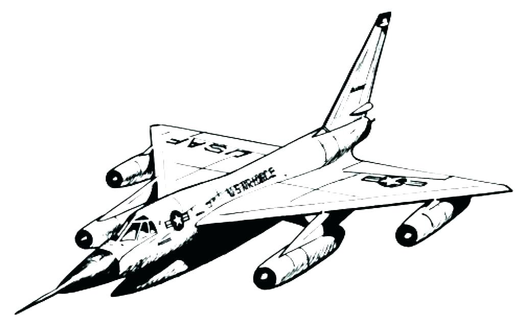 1024x632 Plane Drawing At Free For Personal Use Airplane Coloring Book
