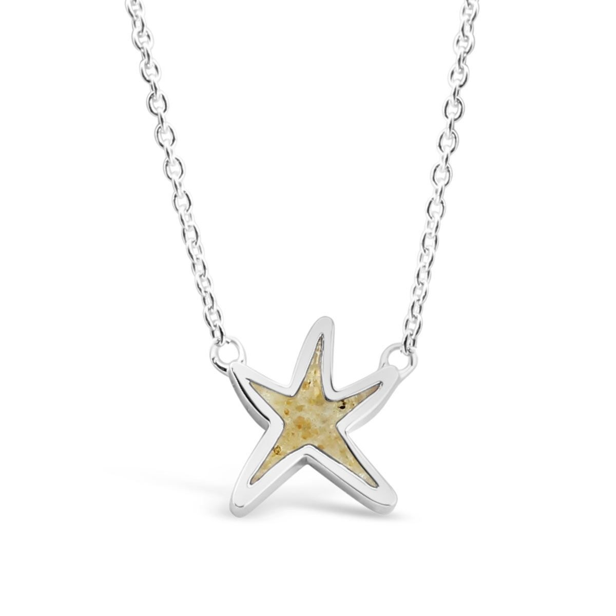 1200x1200 Sterling Silver Starfish Stationary Necklace Dune Jewelry