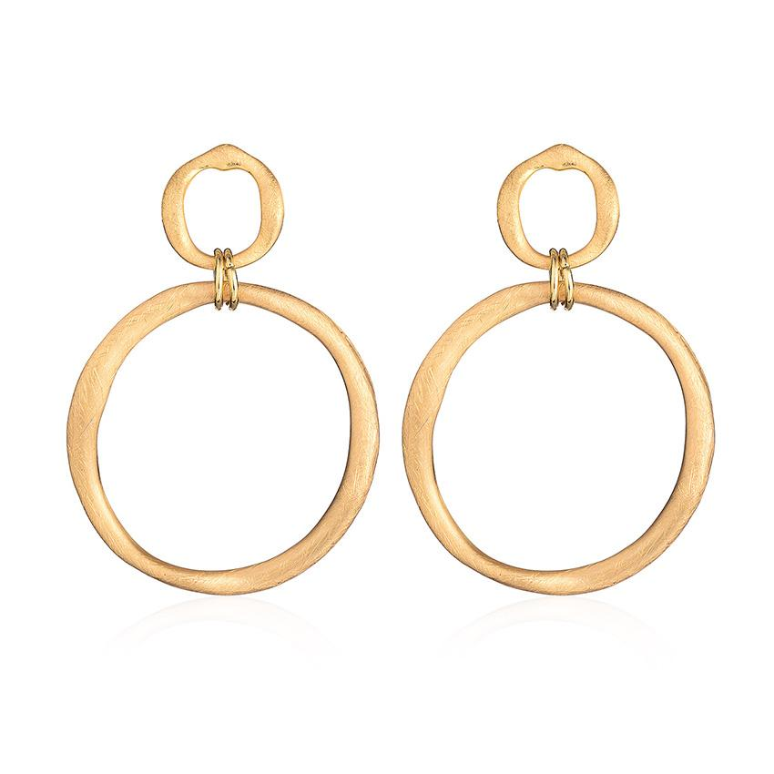 850x850 Trendy Double Drawing Circles Drop Earrings For Women Very