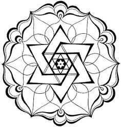 Jewish Star Drawing