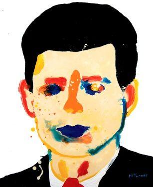 307x375 saatchi art artist neal turner painting, jfk