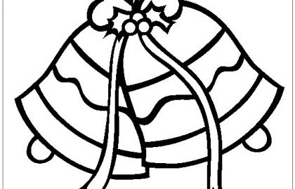 420x270 christmas bells coloring pages free inspirational jingle bells