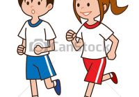 200x140 stock illustration jogger girl clipart drawing gograph