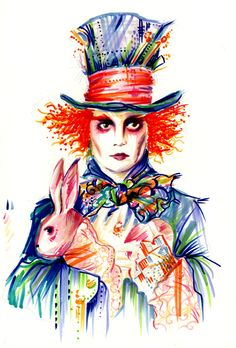 Johnny Depp Mad Hatter Drawing