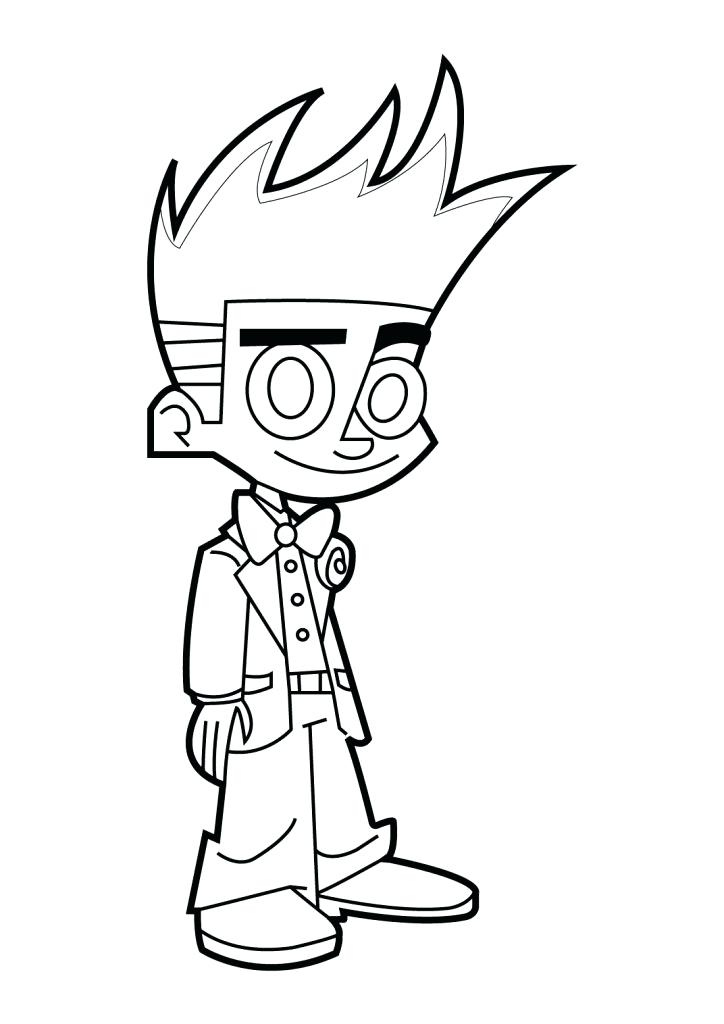 724x1024 Johnny Test Coloring Pages Coloring