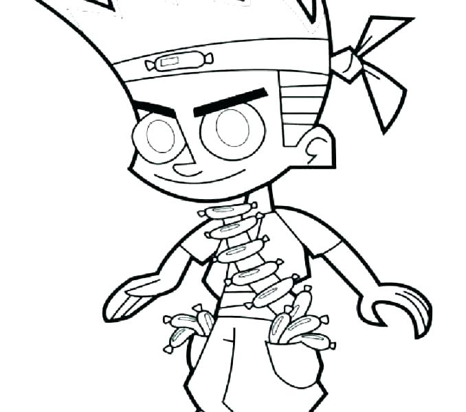678x600 Johnny Test Coloring Pages Online Aspiration Kids