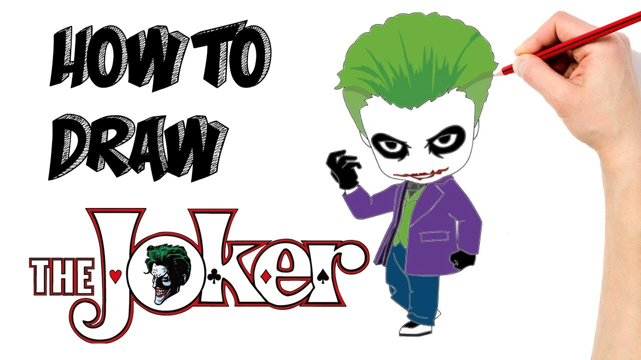 1280x720 How To Draw The Joker Cartooning Kids