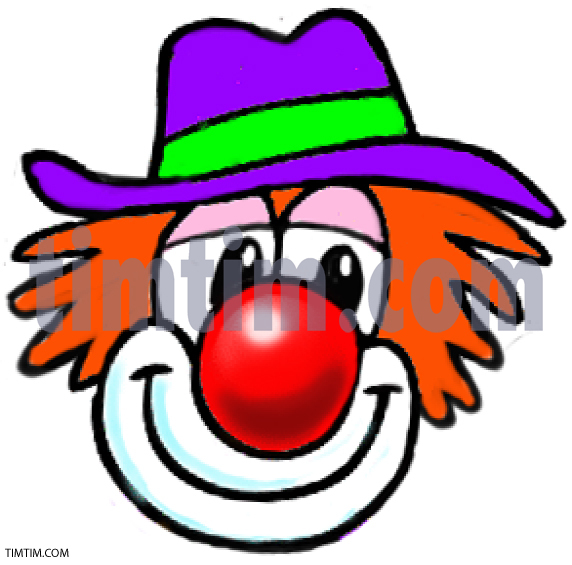 572x565 Huge Collection Of 'clown Face Drawing' Download More Than