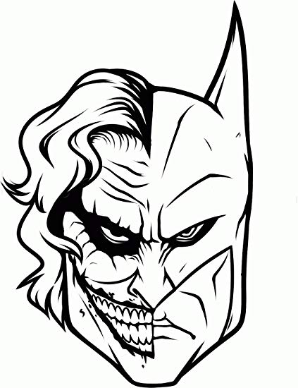 423x550 Batman Joker Face Decal, H