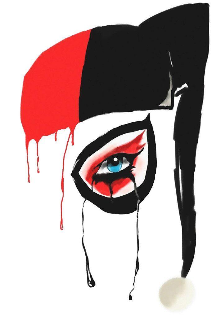683x1024 harley quinn face fan poster tattoos harley quinn, harley