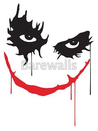 339x450 joker smile art print poster superheros joker smile tattoo
