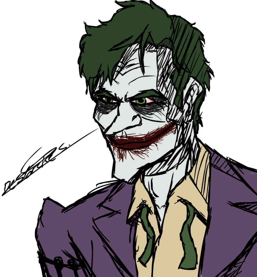 Joker Line Drawing
