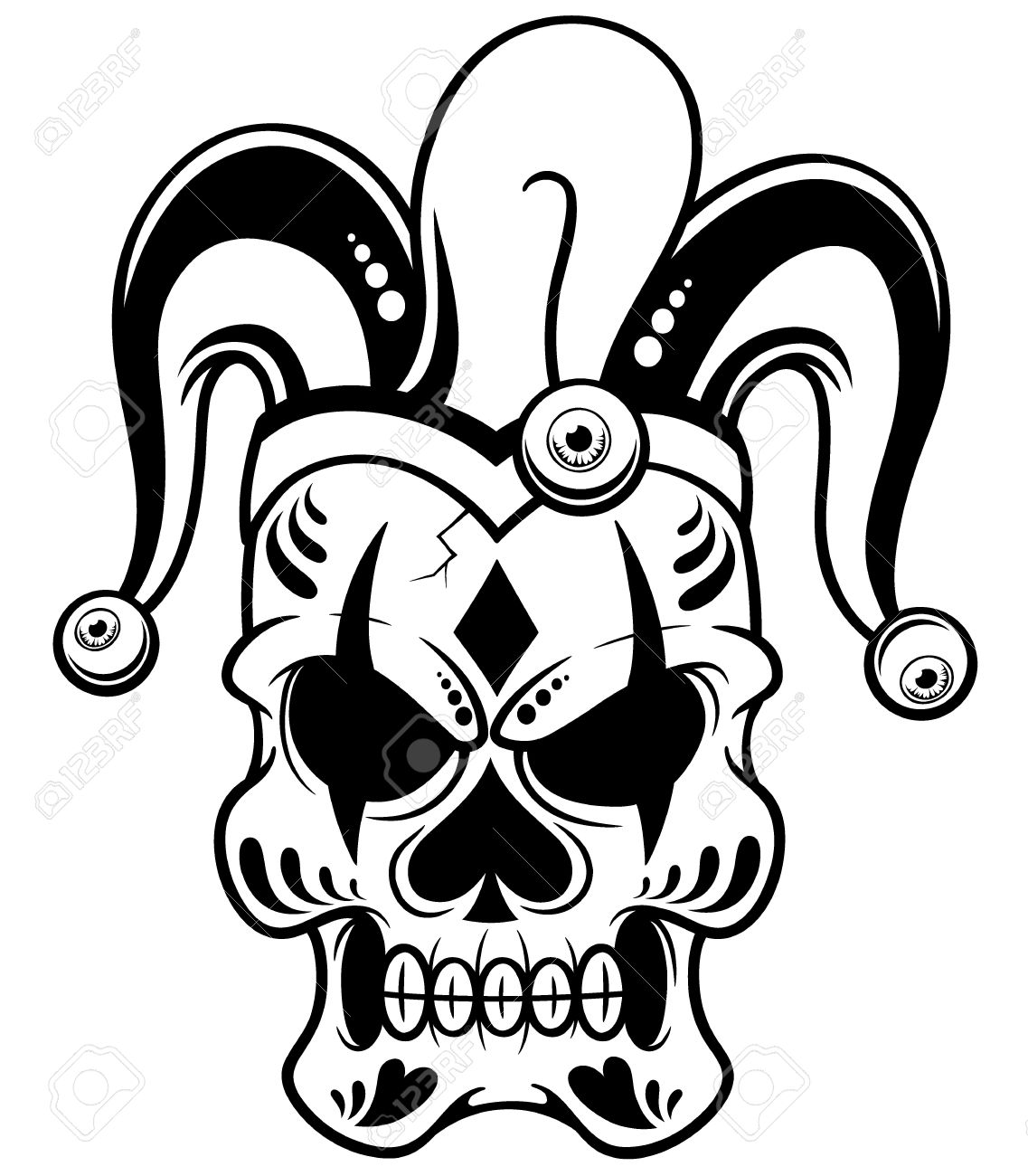 1137x1300 Huge Collection Of 'joker Skull Drawing' Download More Than